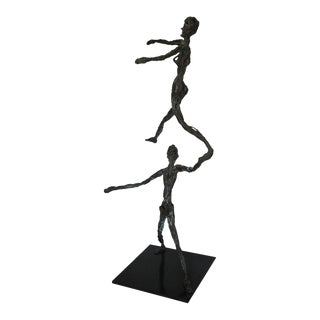 Mid-Century Modern Figurative Bronze Sculpture For Sale