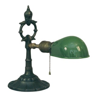 1910 The Mephistopheles Desk/Table Lamp With Enameled Shade by Rembrandt For Sale