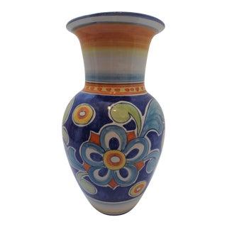 l'Antica Deruta Italian Hand Painted Ceramic Vase