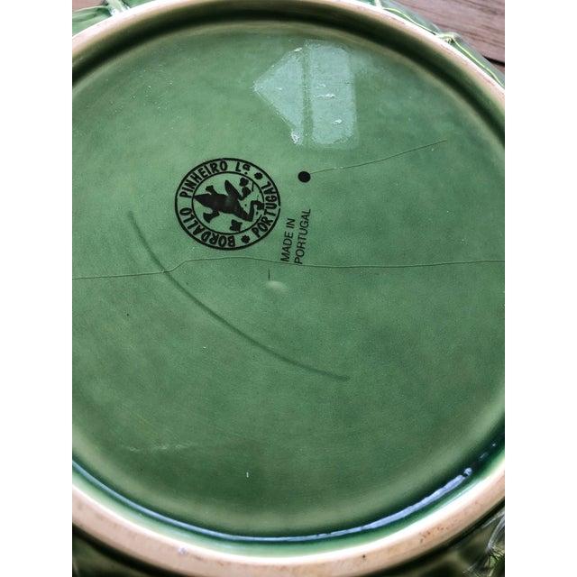 Ceramic Bordallo Pinheiro Majolica Cabbage Bowl For Sale - Image 7 of 8