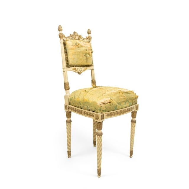 Silk Italian Neoclassic Silk Upholstery Chairs For Sale - Image 7 of 11