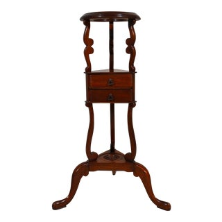 Antique English Mahogany 19th Century Pedestal Stand For Sale