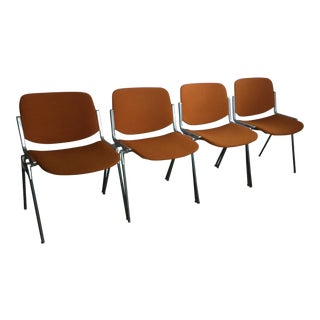 Italian Mid Century Chairs Designed by Giancarlo Piretti for Castelli - Set of 4 For Sale