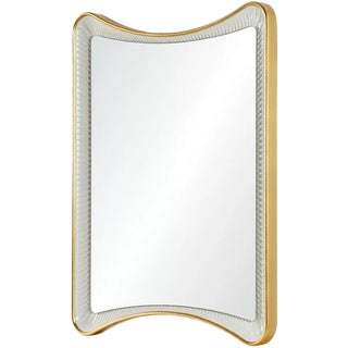 Contemporary Gold Leaf and White Celerie Kemble Mirror For Sale
