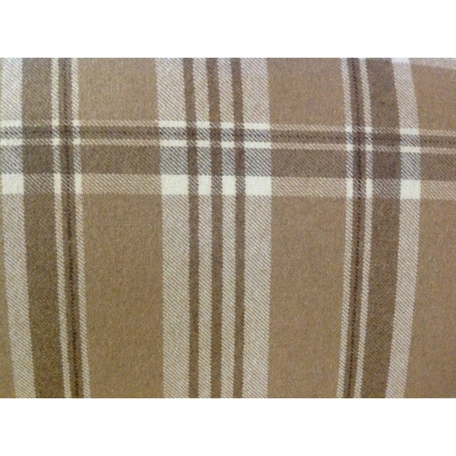 French Settee in Ralph Lauren Wool Plaid & Ostrich - Image 7 of 7