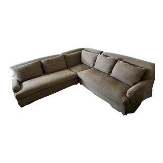 Restoration Hardware Light Gray Linen Sectional