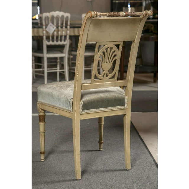 Tan Hollywood Regency Side Chairs by Jansen - Set of 6 For Sale - Image 8 of 9
