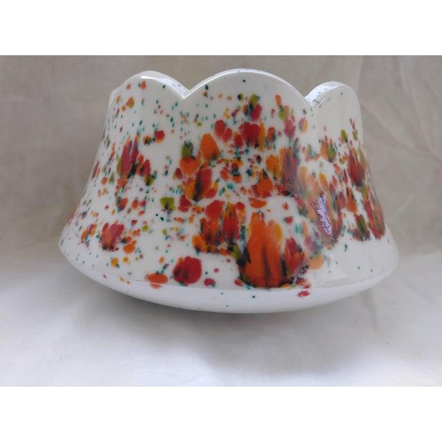 Vintage White Speckled Decorative Bowl or Planter For Sale In Las Vegas - Image 6 of 6