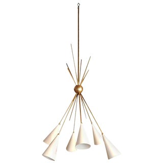 """Bouquet"" Chandelier in Enamel and Brass by Blueprint Lighting For Sale"