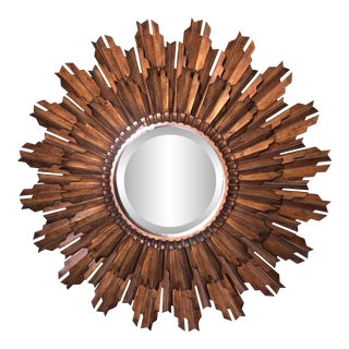 LaBarge Gold Sunburst Wall Mirror For Sale