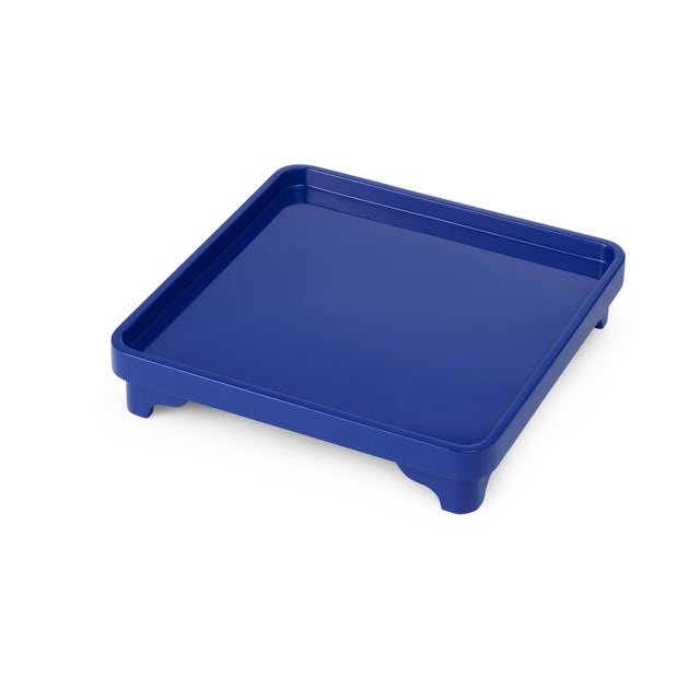 Contemporary Chinese Riser in Cobalt Blue - Miles Redd for The Lacquer Company For Sale - Image 3 of 3
