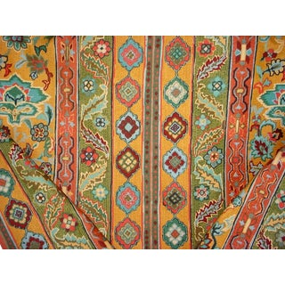 Moroccan Brunschwig Et Fils Sultanabad Curry Floral Upholstery Fabric - 7-1/2y For Sale