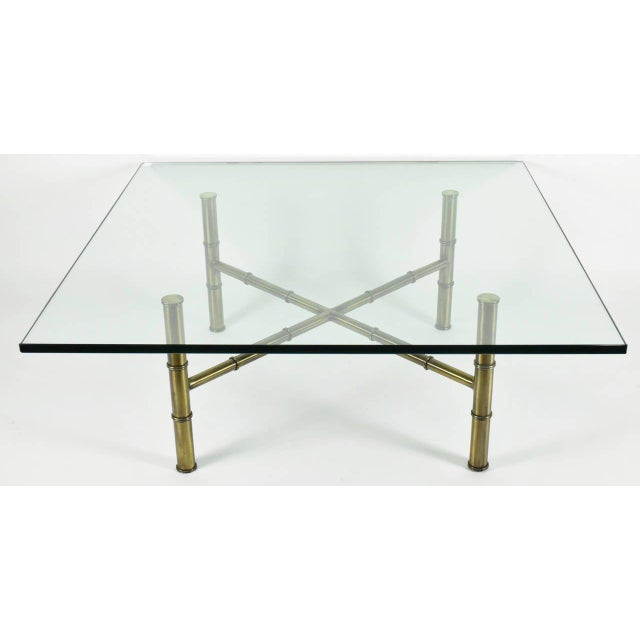 Faux Bamboo Coffee Table Attributed to Mastercraft - Image 7 of 8