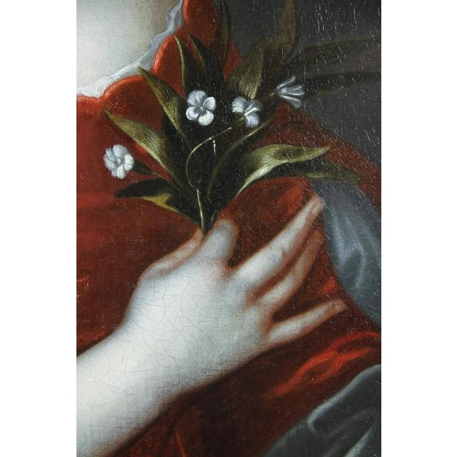 Baroque Framed Oil on Canvas of a Noblewoman Attributed to Sir Peter Lely For Sale - Image 3 of 8