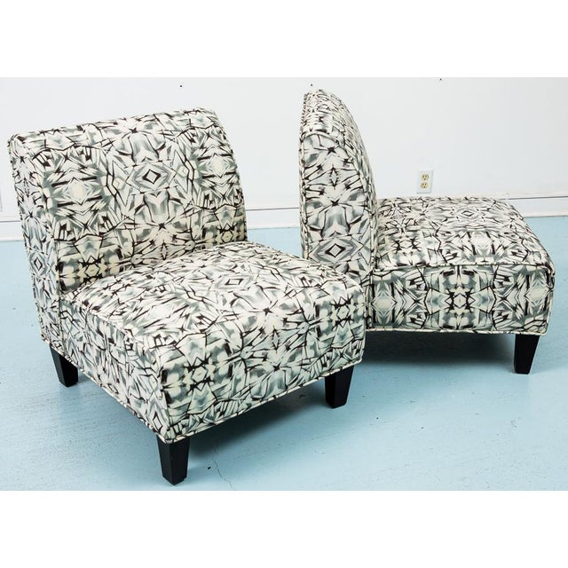 Modern Slipper Chairs - Pair - Image 2 of 5
