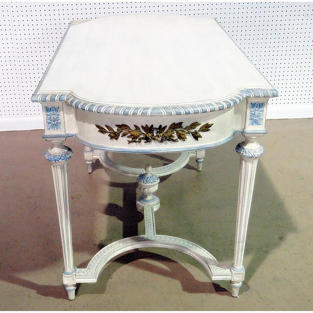 Paint Swedish Louis XVI Style Library Table For Sale - Image 7 of 11