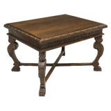 Image of 19th Century Italian Renaissance Revival Figurative Carved Walnut Draw Leaf / Extendable Table For Sale