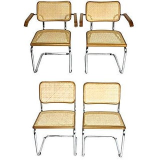 Marcel Breuer-Style Cesca Dining Chairs- Set of 4 For Sale