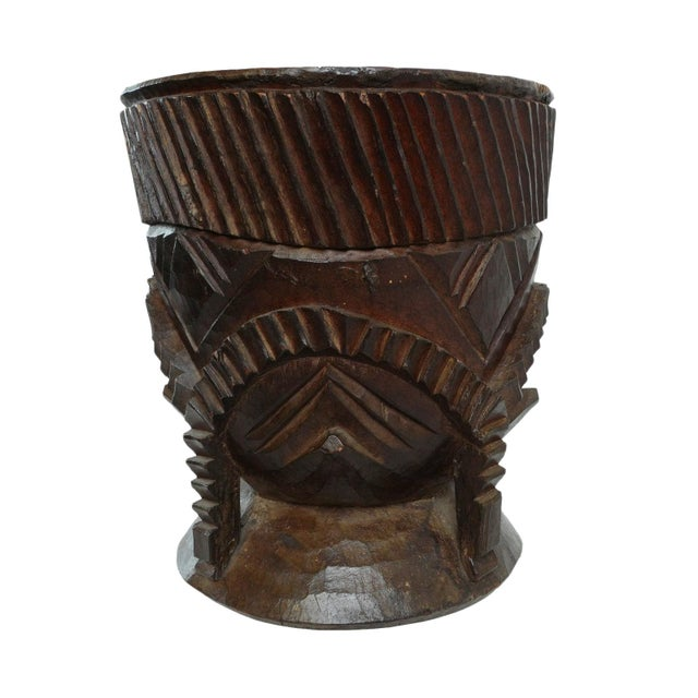Wood Wood Nupe Pot For Sale - Image 7 of 7