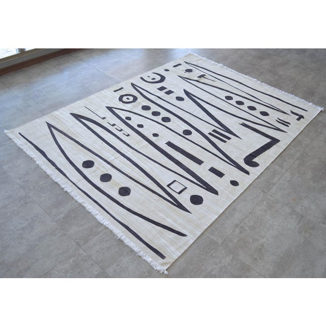 Paul Klee Paul Klee - Heroic Strokes of the Bow - Inspired Silk Hand Woven Area - Wall Rug 4′11″ × 6′9″ For Sale - Image 4 of 10