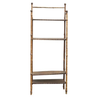 Petite Light Brown Chinoiserie Bookcase For Sale