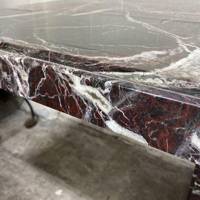 Monumental Marble Dining or Desk Table For Sale - Image 12 of 13