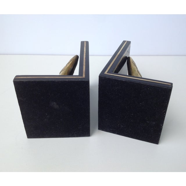 Brass Trout Fish & Wood Bookends - A Pair For Sale - Image 11 of 11