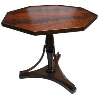 Bierdermeier Style Mahogany Octagonal Table For Sale