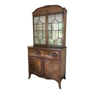 Victorian Wavy Glass Butler's Desk Breakfront