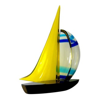 Romano Dona' Sailboat Sculpture For Sale