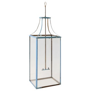 Large Rectangular Iron Lantern For Sale