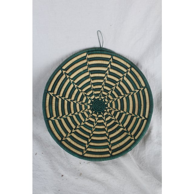 Ghanian Green Starburst Basket For Sale In New York - Image 6 of 7