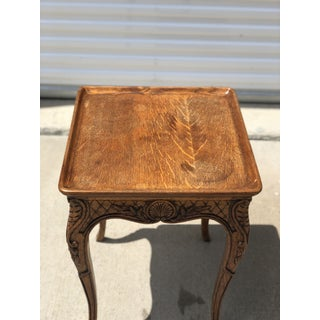 1930s French Country Carved Wooden Side Table Preview