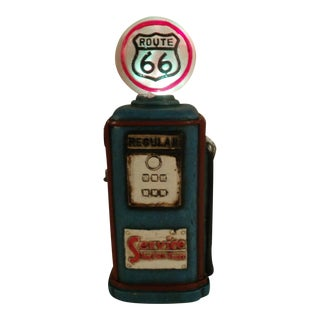 Route 66 Resin Gas Pump Sign