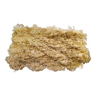 Final Reduction Scalamandre Designer Golden Yellow Fringe Trim -Almost 9 Yards For Sale