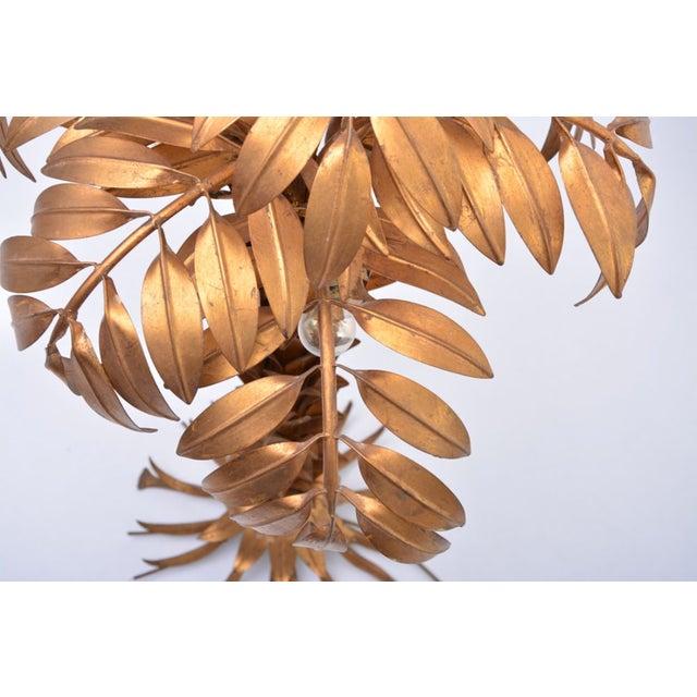 1980s Huge Vintage Golden Palm Tree Floor Lamp by Hans Kögl, 1980s For Sale - Image 5 of 11