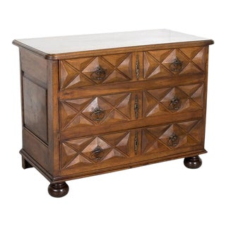 18th Century French Louis XIII Style Walnut Commode or Chest of Drawers For Sale