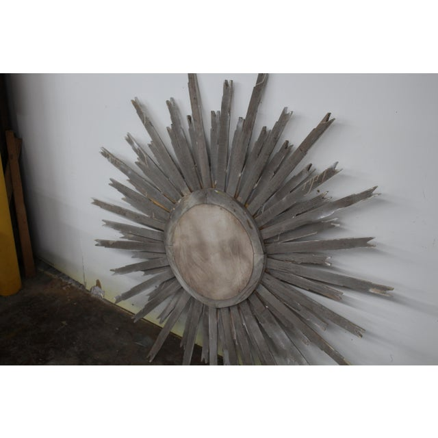 20th Century Vintage Gilt Wood Sunburst Mirror For Sale - Image 4 of 5