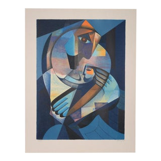 Neal Doty Mother and Child Serigraph S/N C.1979 For Sale