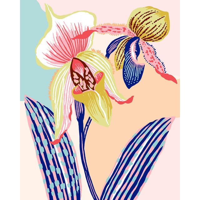 Colour Block Orchid, Giclee Print by Sarah Gordon For Sale