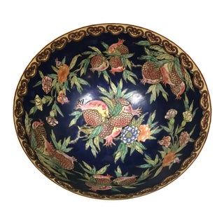 Chinese Large Fruit Design Bowl For Sale