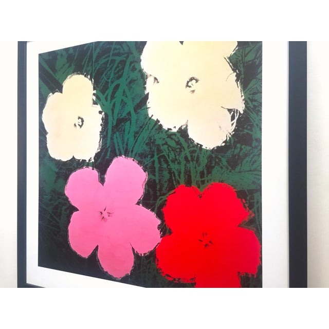 """Andy Warhol Foundation Vintage Lithograph Print Framed Pop Art Poster """" Flowers III """" 1964 For Sale - Image 11 of 13"""