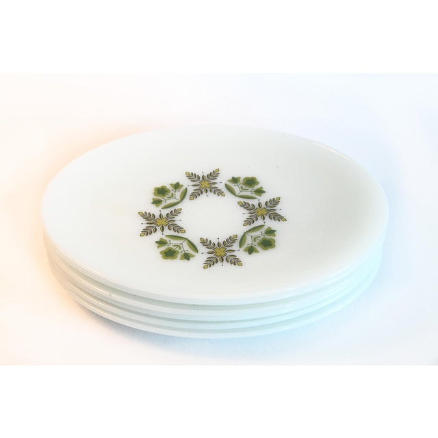 2000 - 2009 White Milk Glass Oval Dinner Plates - Set of 6 For Sale - Image 5 of 6