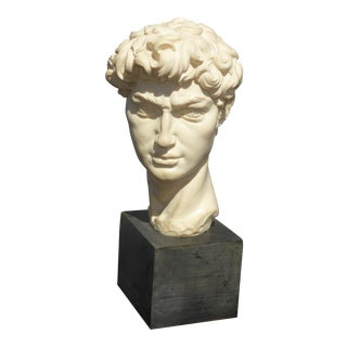 Vintage Bust of David Michelangelo Statue Sculpture For Sale