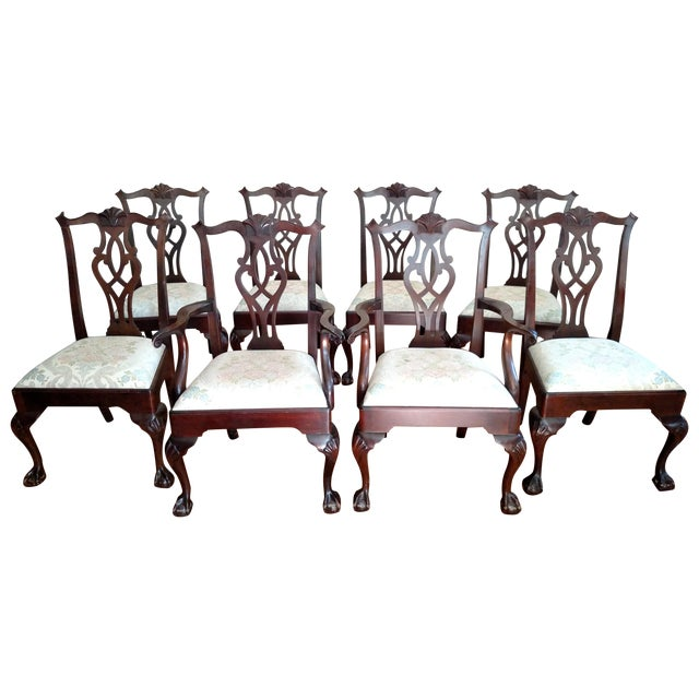 Stickley Mahogany Dining Chair Set - 8 - Image 1 of 9