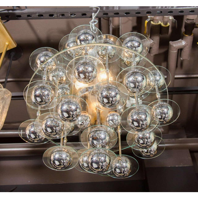 Mid-Century Modern Space Age Chandelier For Sale In New York - Image 6 of 8