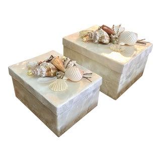 Capiz Seashells Boxes - A Pair