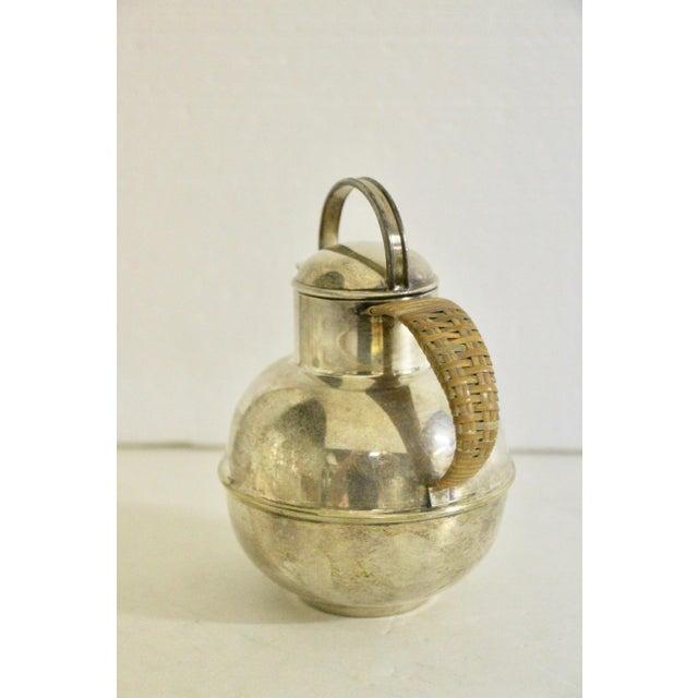 1920s Art Deco 1920's Rattan Handle Tea Pot For Sale - Image 5 of 7