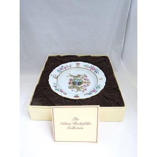Mottahedeh Vista Alegre Nelson Rockerfeller Armorial Soup Plate in Presentation Box Preview