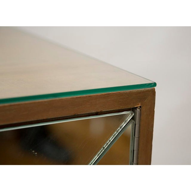Brown Bleached Mahogany Mirrored Sideboard Attributed to Tommi Parzinger For Sale - Image 8 of 10